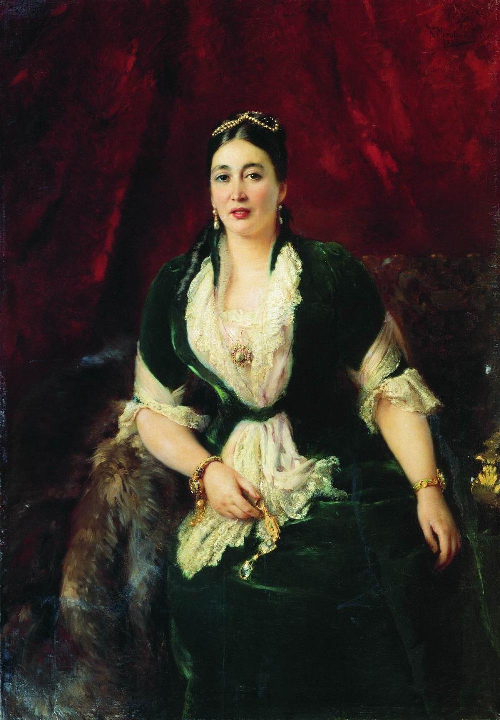 Портрет купчихи Е.С.Расторгуевой. 1885  Ярославский художественный музей.