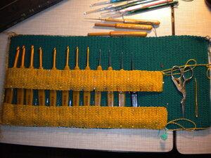 Вязание крючком футляра для крючков 10