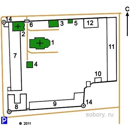 План Ново-Голутвина монастыря