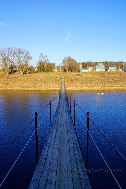 Подвесной пешеходный мост через Москва-реку Ожигово-Красотино, Рузский район