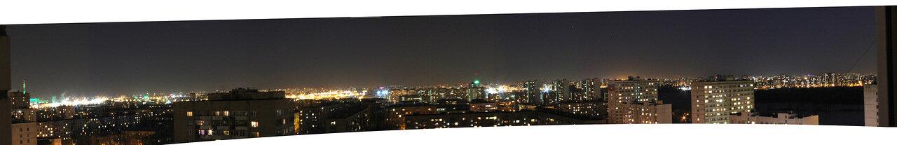 Вид из окна: Юго-Восток Москвы ночью
