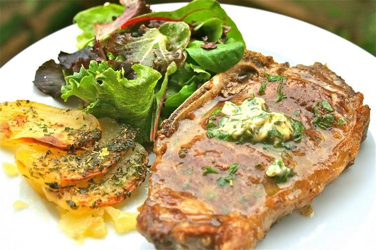 Антрекот говядины рецепт на сковороде фото