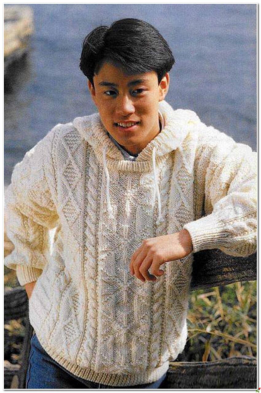Мужской вязаный пуловер с капюшоном с доставкой
