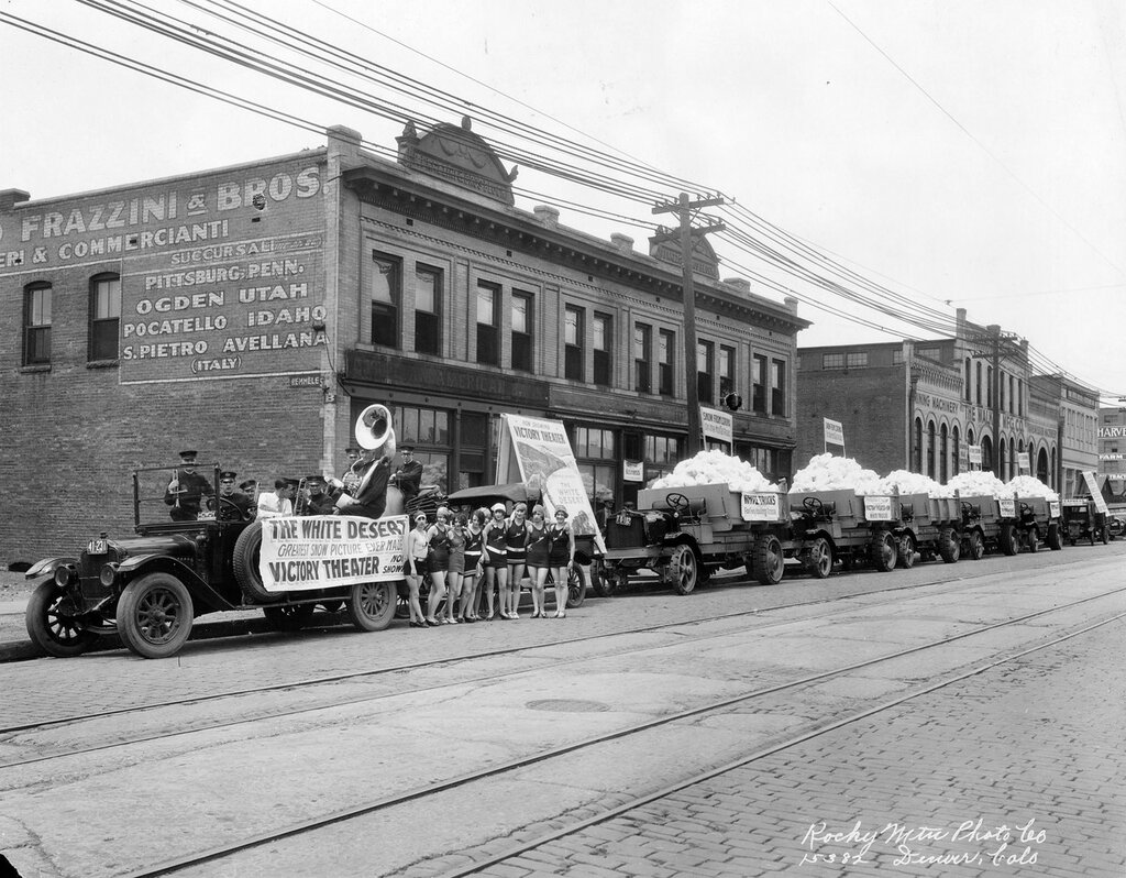 Victory Theater promotional parade on 15th Street in Denver, Colorado, 1925