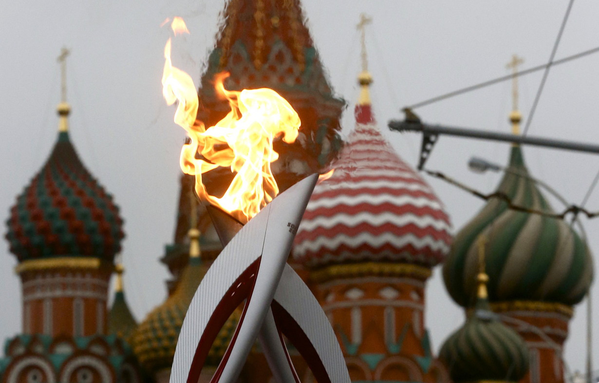 Самые яркие моменты эстафеты олимпийского огня «Сочи-2014»
