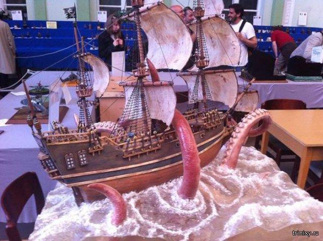 Невероятная модель корабля с выставки Moson Model Show