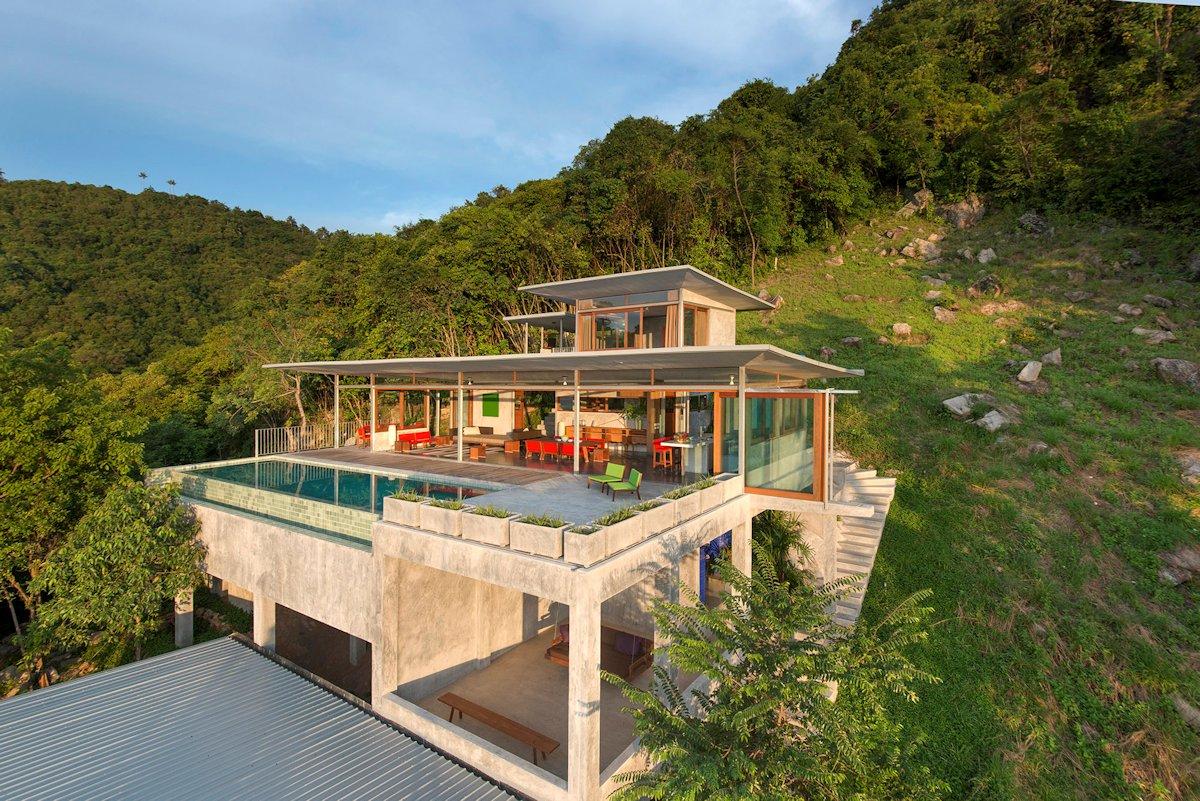 The Naked House, Marc Gerritsen, дом на берегу океана, потрясающий вид из окон частного дома, частный дом с бассейном, терраса с бассейном