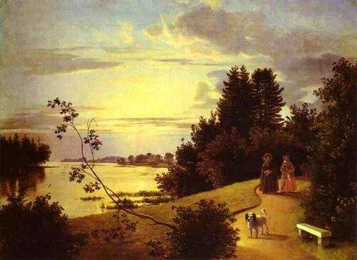 Иван Хруцкий (1810 - 1885) Вид на Елагином острове в Петербурге (1839).jpg
