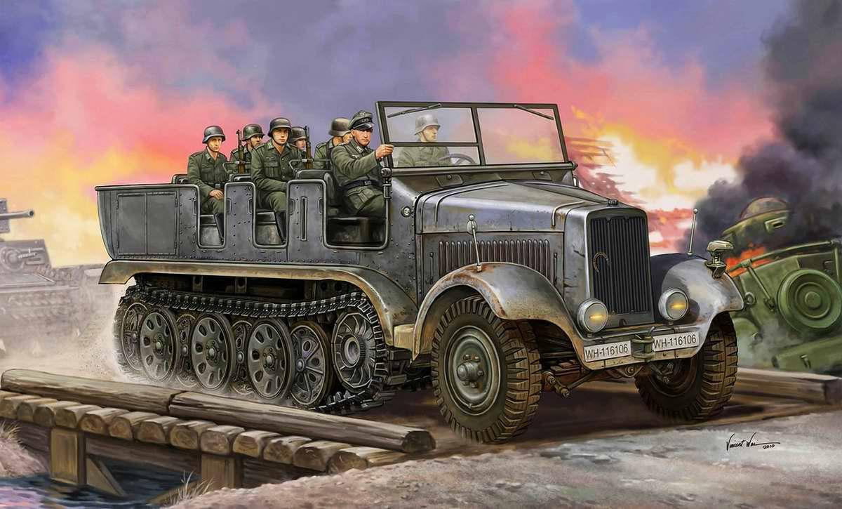 Немецкий полугусеничный артиллерийский тягач Sd Kfz 6 (Vincent Wai)