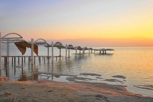 Утро . Мертвое море. Израиль