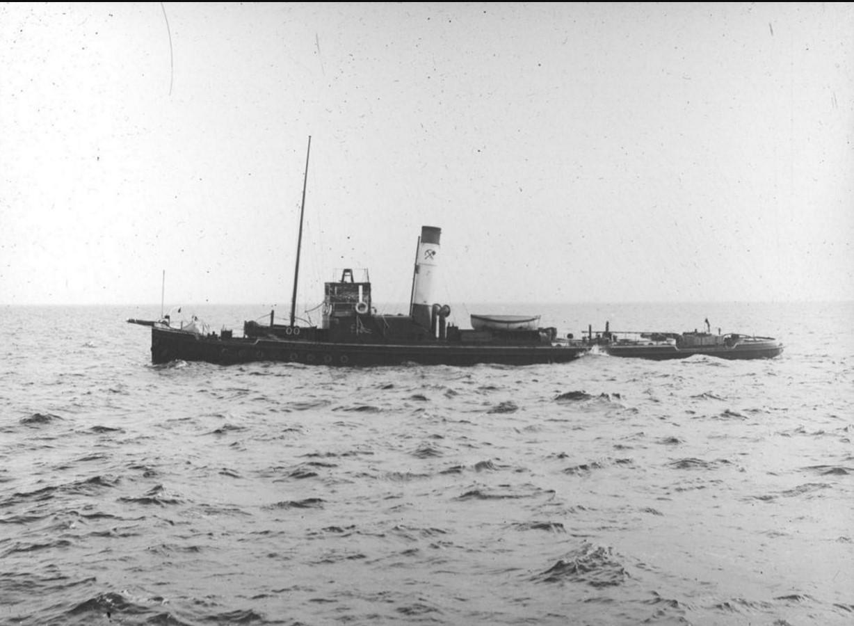 23 августа - 1 сентября 1914. Вид на пароход «Эрнст Гюнтер» в Карском море