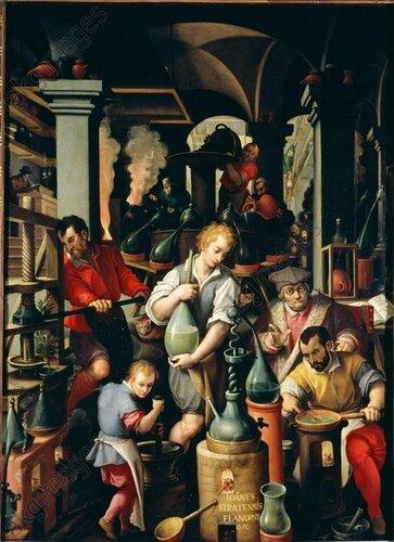 Jan Stradanus, Die Alchemie - Jan Stradanus / Alchemy / 1570 - Jan Stradanus / L'Alchimie / Peinture