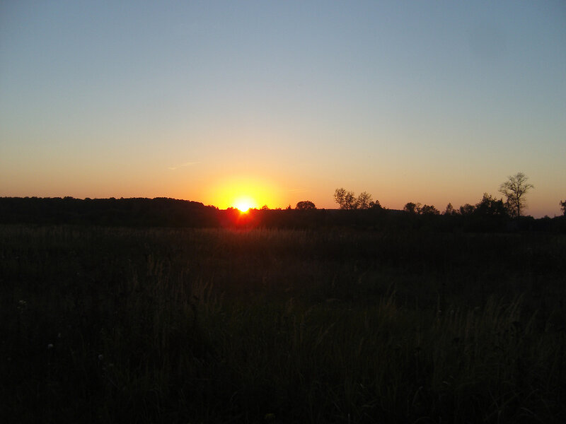 солнце заходит за Ясногорск