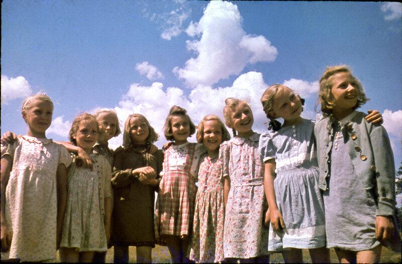 Cecil F. S. Newman, Waldschule Kids. Berlin Girls. 1946.jpg