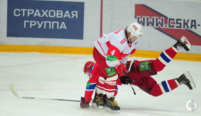 ЦСКА vs «Спартак» 2:1 чемпионат КХЛ 2012-2013 (Фото)