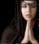молящиеся девушки