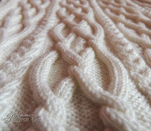roventa-handmade, cowl, knitting, снуд, снуд спицами, вязаный снуд, араны, снуд с косами, снуд снежная королева