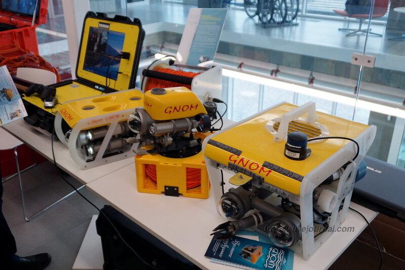 """Подводные теле-управляемые аппараты """"Гном"""", Конференция и выставка Skolkovo Robotics 2014"""