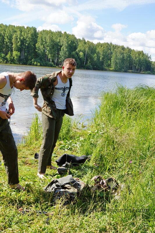 Немецкие диверсанты-плавцы на советской территории. 22 июня, реконструкция начала ВОВ в Кубинке