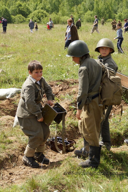 Юный связист. 22 июня, реконструкция начала ВОВ в Кубинке (2 часть)