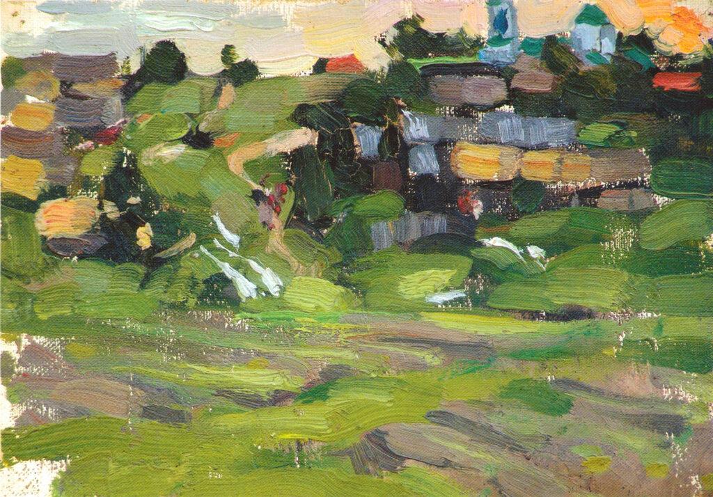 Сельский пейзаж. Этюд (1900-е).jpg