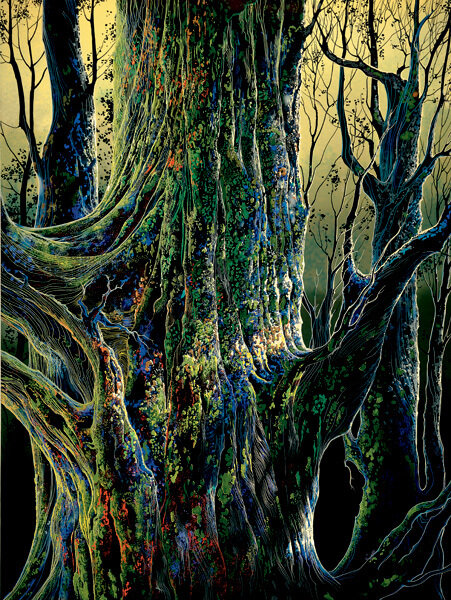 Художник Эйвинд Эрл (1916-2000) - США. Стать бы деревом лесным