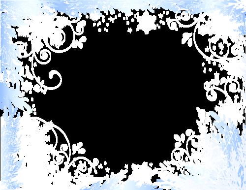 зимние рамки