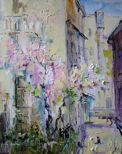 Анна Чарина. Вишни цветут. Палисадник в Головином переулке.jpg