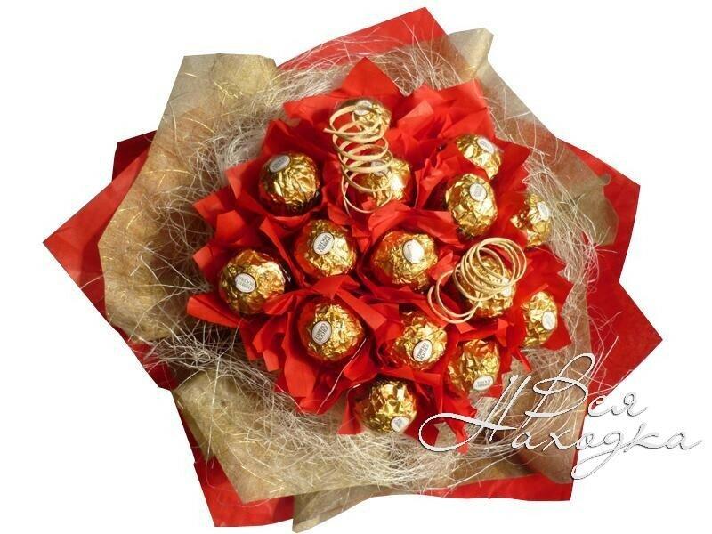 Подарок своими руками из конфет для начинающих