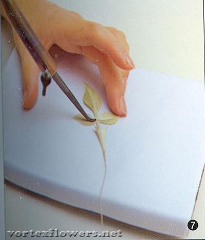 как сделать листья для розы