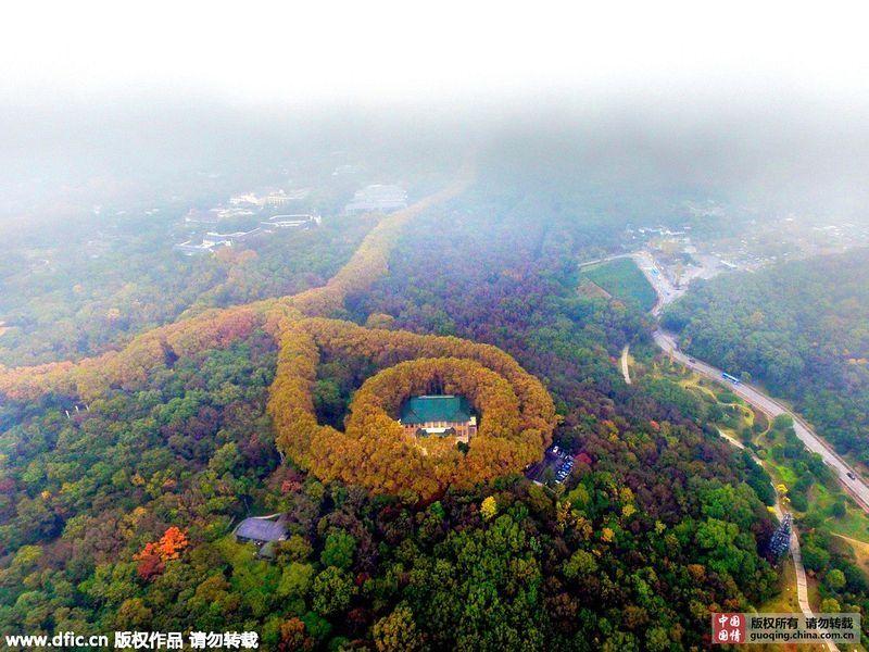 Дворец Мэй-Лин возле Нанкина похож на гигантское ожерелье (7 фото)