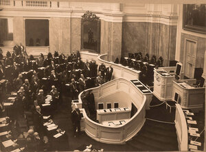 Заседание Государственного Совета в Мариинском дворце. 1908 г..