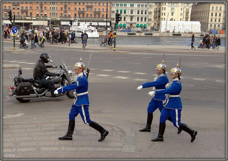 Караульная служба в Стокгольме