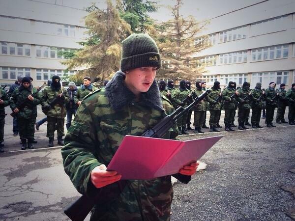 Присяга крымских ополченцев