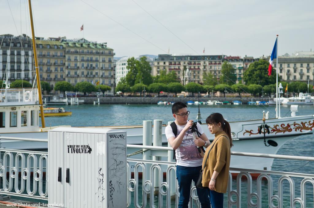 Фото 17. Японцы в Швейцарии. Как снять самих себя в Женеве, используя штатив