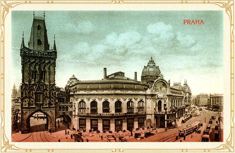 25. Пороховая башня (слева) и Общественный дом (по центру). 1932 год