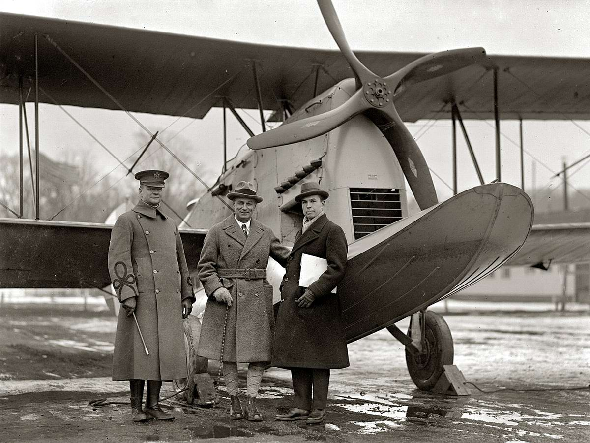 Самолеты и пилоты начала 20-го века на снимках американских фотографов (34)