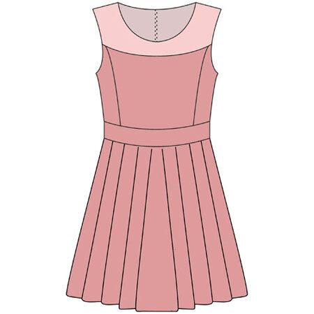 Выкройка школьного платья в складку