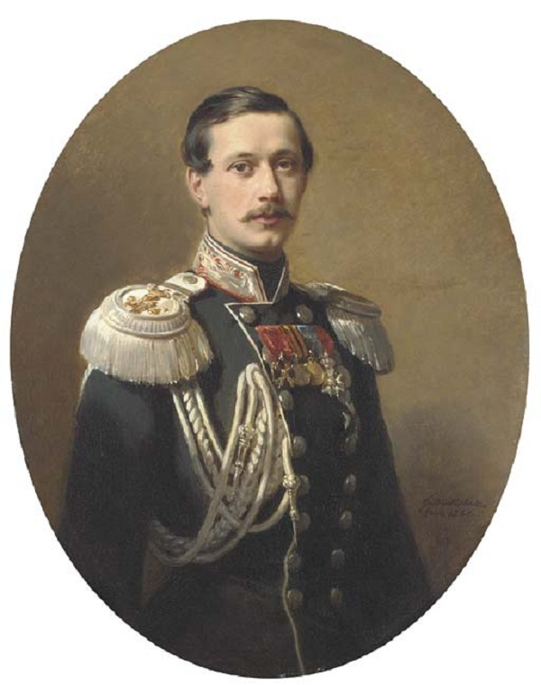 Portrait of Count Paul Andreievich Shouvaloff in the uniform of His Majesty Suitesigned, inscribed and dated 'Fr.Winterhalter/Paris 1860.'