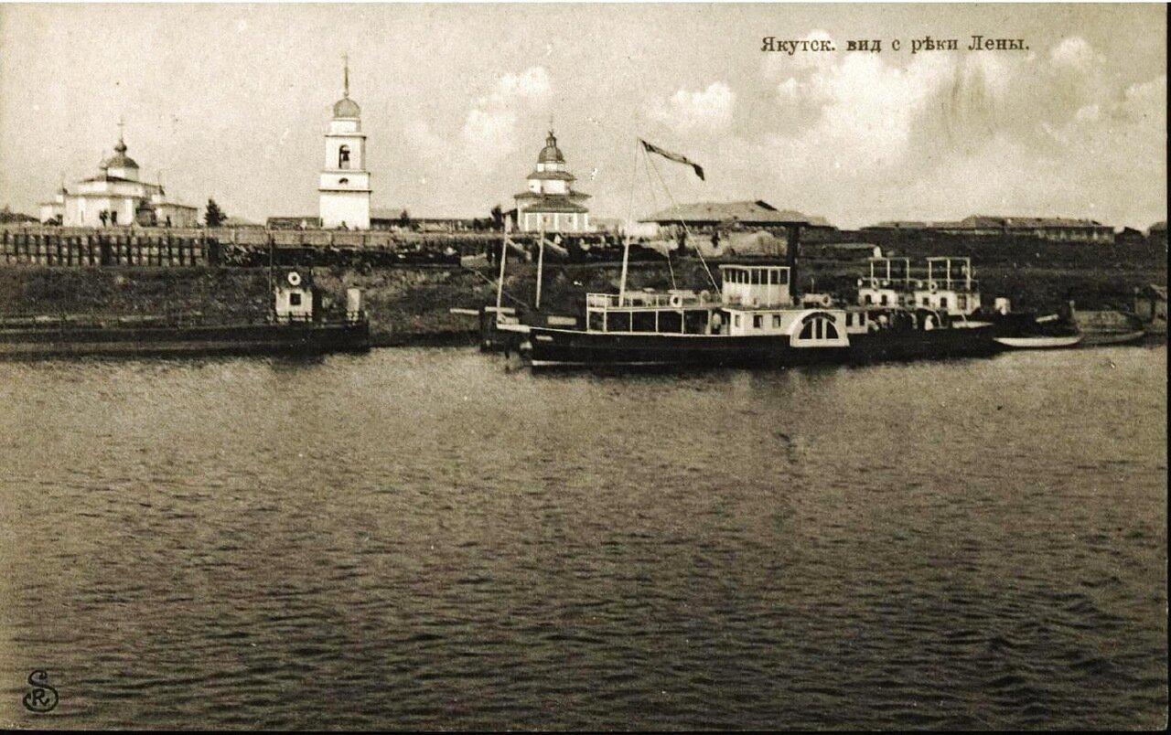 Вид с реки Лены