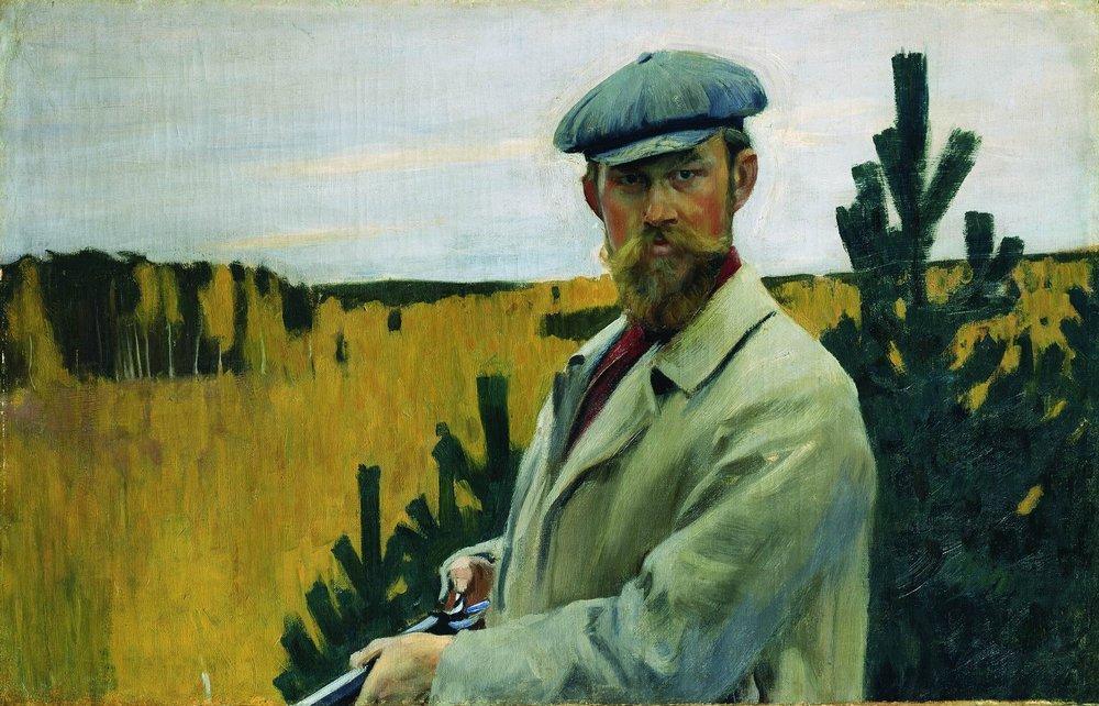Кустодиев. Автопортрет. (На охоте.) 1905г.