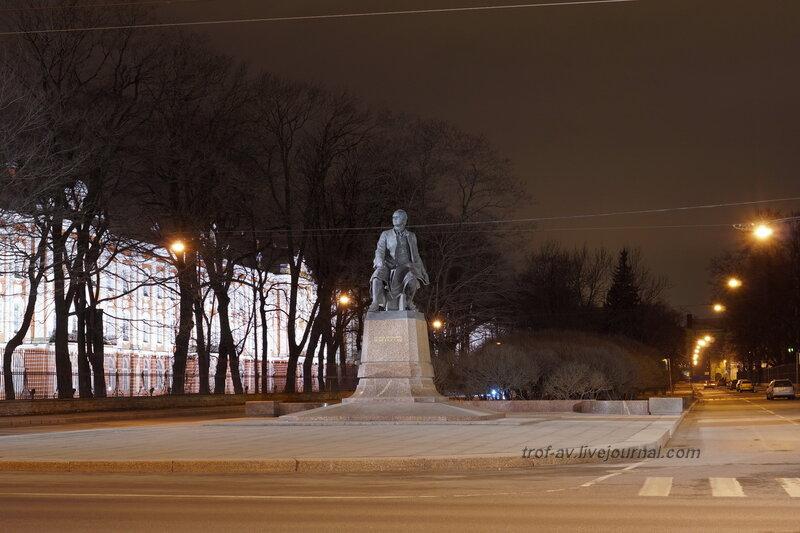Памятник Ломоносову (1986г), Санкт-Петербург