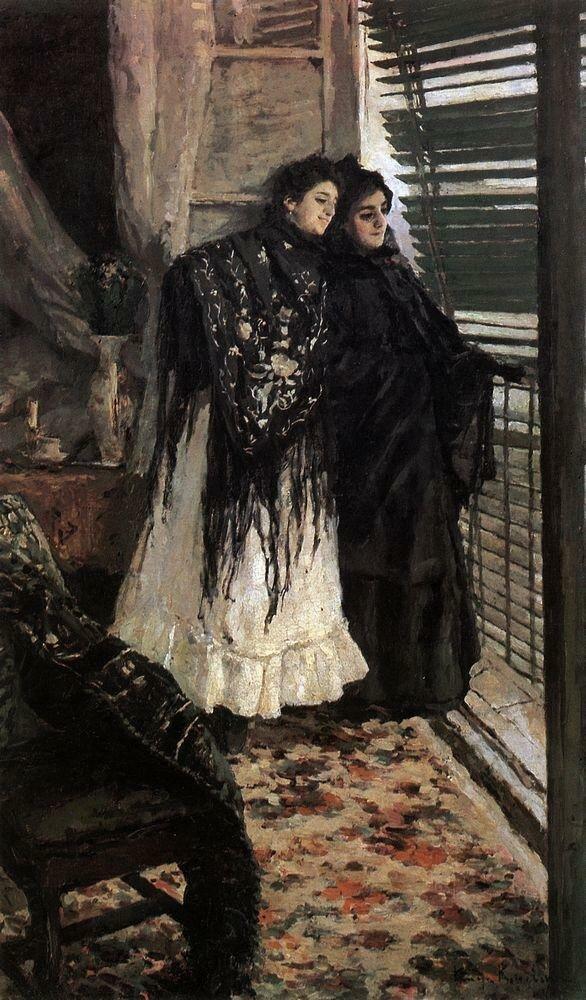 У балкона. Испанки Леонора и Ампара. 1888-1889.jpg
