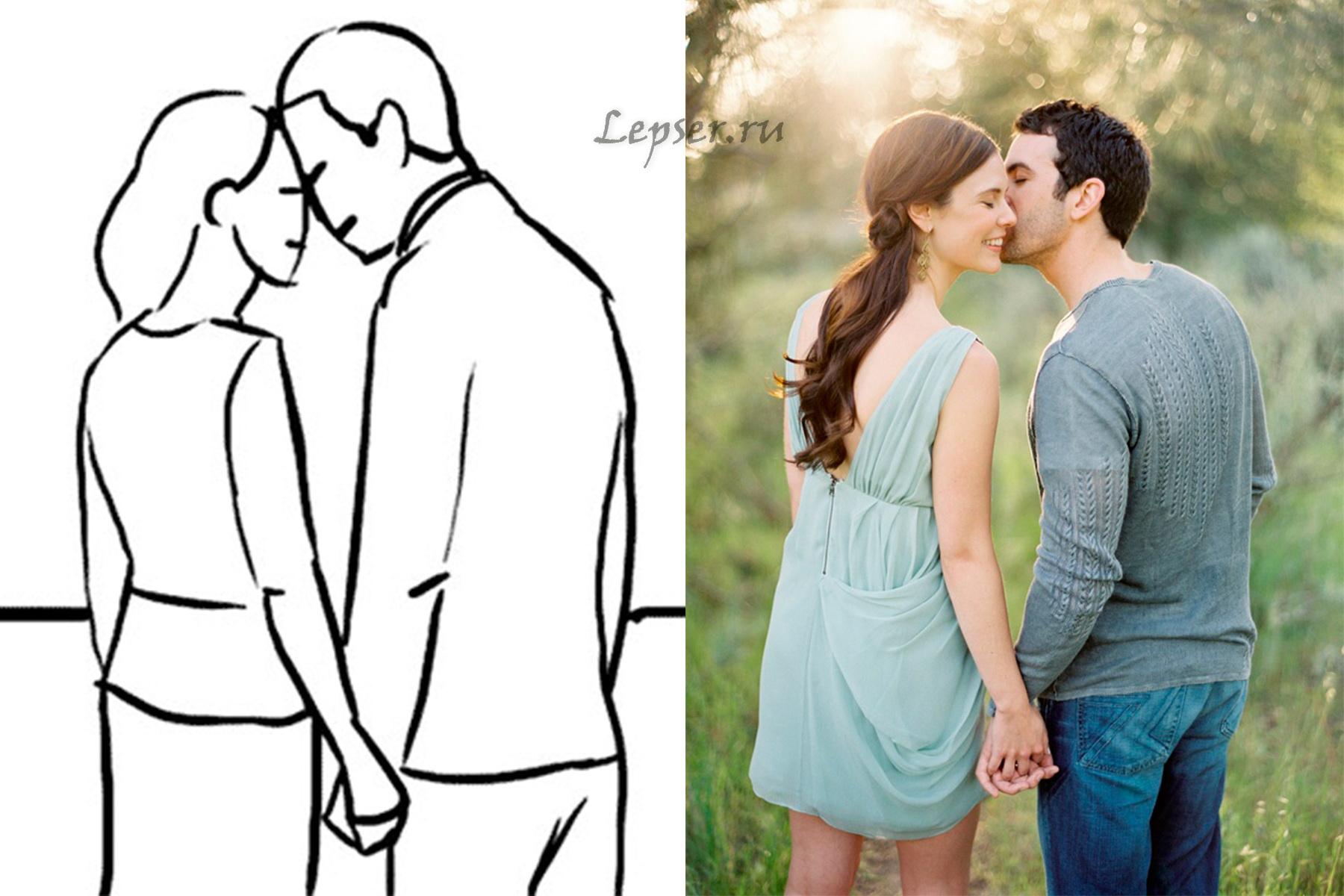 Позы для фотосессии парень и девушка