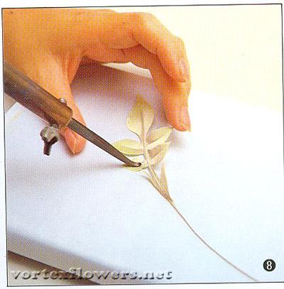 листья для розы по-японски