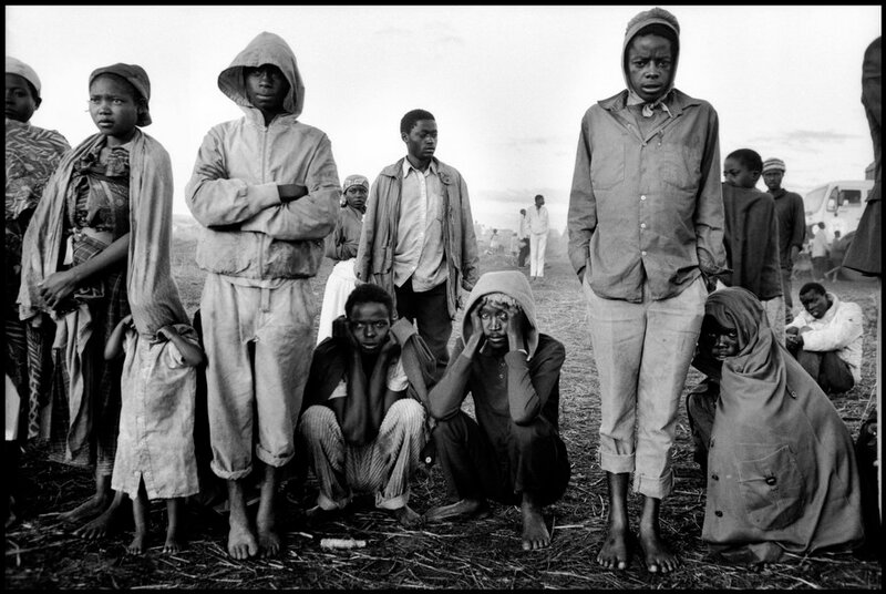 TANZANIA. 1994. Rwandan refugee camp in the Ngara region, near the border with Rwanda.