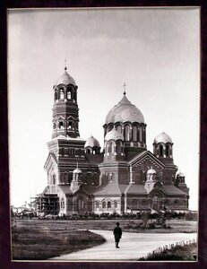 Вид строящегося Кафедрального собора.