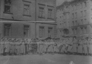 А.Ф.Керенский на параде запасного батальона полка.