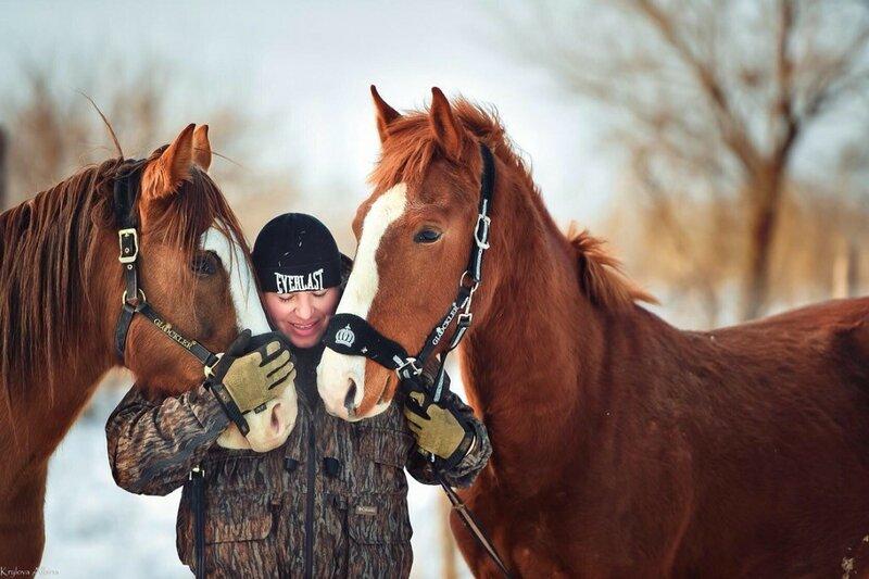 Алексей Теняков и лошади