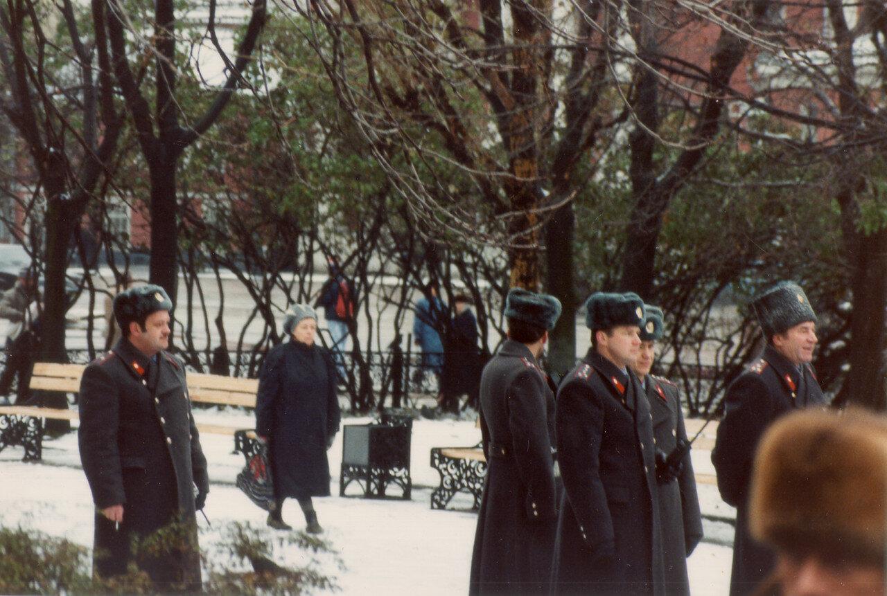 31. Московская милиция во время митинга протестующих